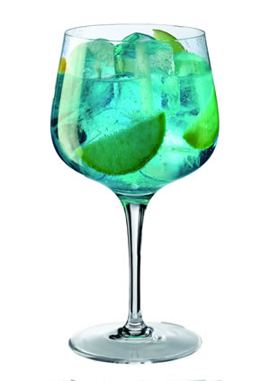 venta de vasos Giona Premium Glass Dry Martini azul